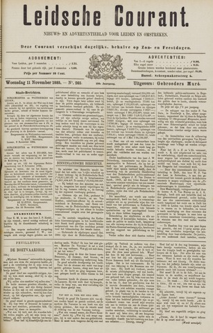 Leydse Courant 1885-11-11