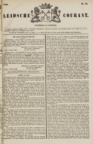 Leydse Courant 1885-01-31