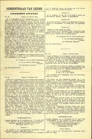 Handelingen van de Raad 1928-01-18