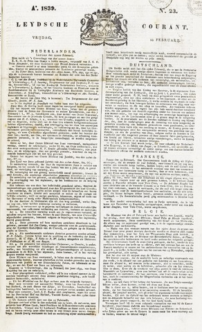 Leydse Courant 1839-02-22