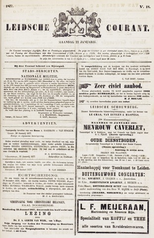 Leydse Courant 1877-01-22