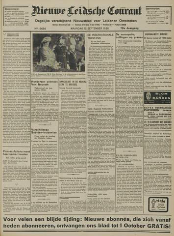 Nieuwe Leidsche Courant 1938-09-12