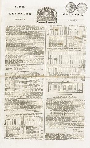 Leydse Courant 1841-03-01