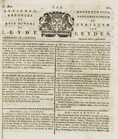 Leydse Courant 1812-01-03