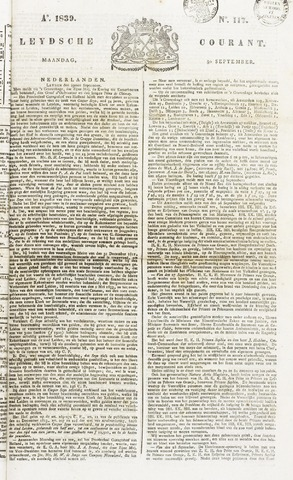 Leydse Courant 1839-09-30