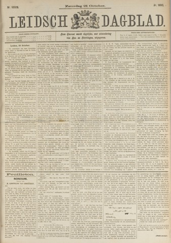 Leidsch Dagblad 1893-10-21