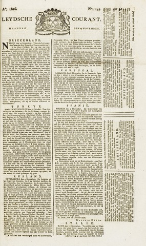 Leydse Courant 1826-11-27