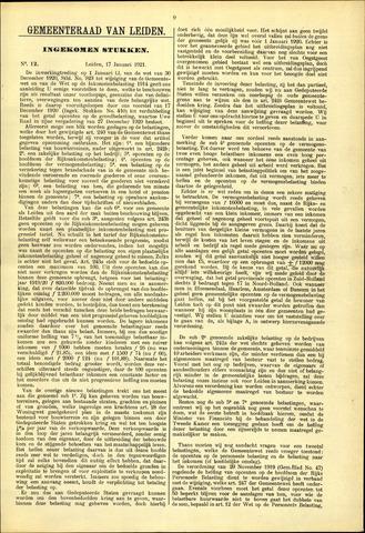 Handelingen van de Raad 1921-01-17