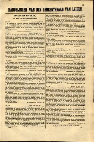 Handelingen van de Raad 1873-04-15