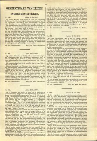 Handelingen van de Raad 1919-07-22