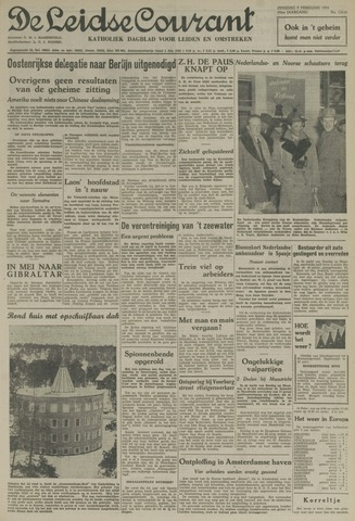 Leidse Courant 1954-02-09