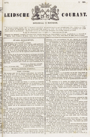 Leydse Courant 1873-11-13