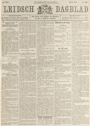 Leidsch Dagblad 1915-09-27