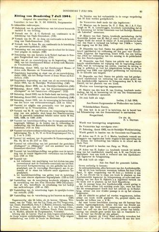 Handelingen van de Raad 1904-07-07