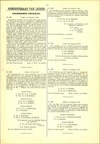 Handelingen van de Raad 1933-08-24