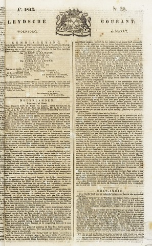 Leydse Courant 1843-03-29