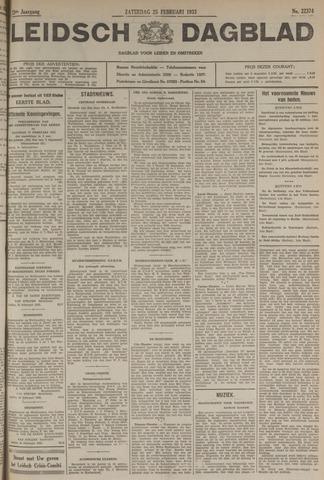 Leidsch Dagblad 1933-02-25
