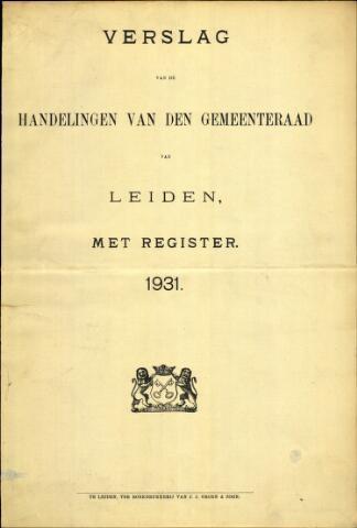 Handelingen van de Raad 1931-01-01