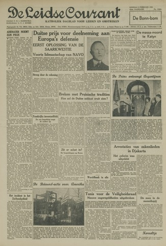Leidse Courant 1952-02-05