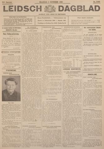 Leidsch Dagblad 1930-11-03