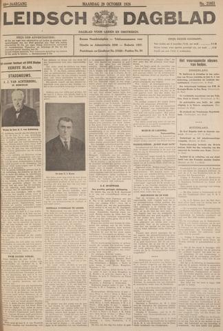 Leidsch Dagblad 1928-10-29