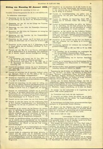 Handelingen van de Raad 1922-01-23