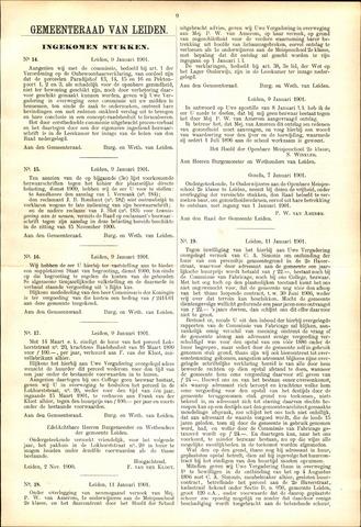 Handelingen van de Raad 1901-01-09