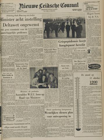Nieuwe Leidsche Courant 1957-10-12