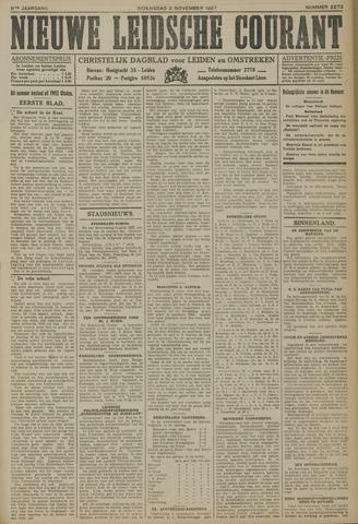Nieuwe Leidsche Courant 1927-11-02