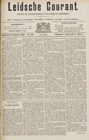 Leydse Courant 1885-08-29