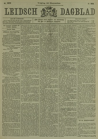 Leidsch Dagblad 1909-12-10