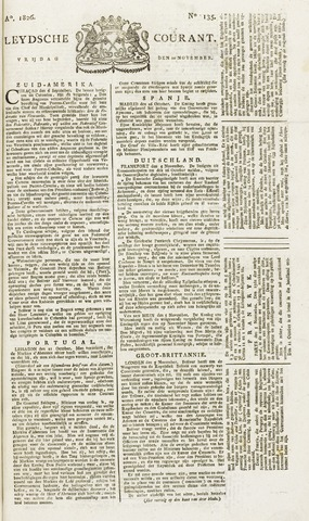 Leydse Courant 1826-11-10