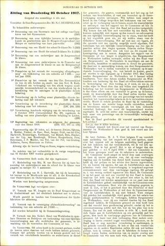 Handelingen van de Raad 1917-10-25