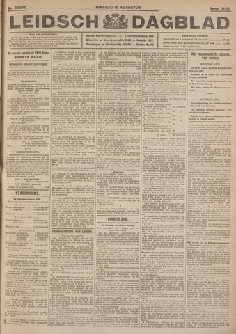 Leidsch Dagblad 1926-08-10