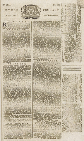 Leydse Courant 1814-09-14