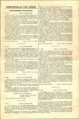 Handelingen van de Raad 1912-01-12