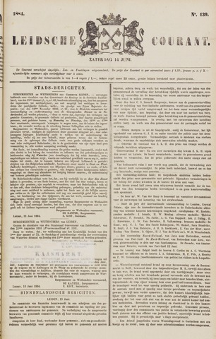 Leydse Courant 1884-06-14