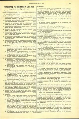 Handelingen van de Raad 1935-07-29