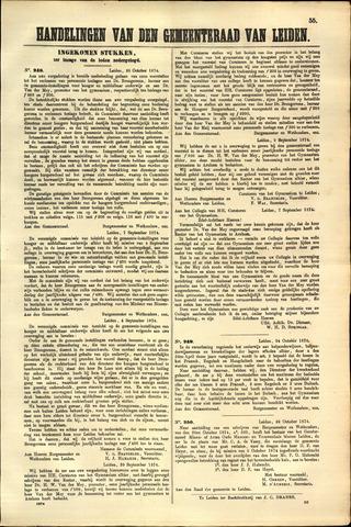 Handelingen van de Raad 1874-10-26