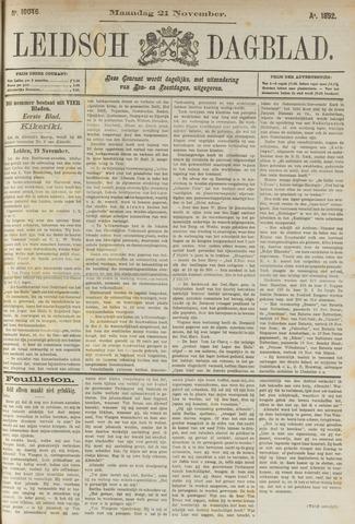 Leidsch Dagblad 1892-11-21
