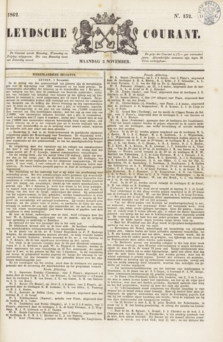 Leydse Courant 1862-11-03