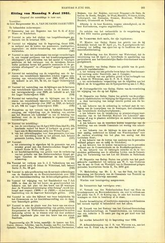 Handelingen van de Raad 1931-06-08