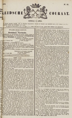 Leydse Courant 1885-04-14