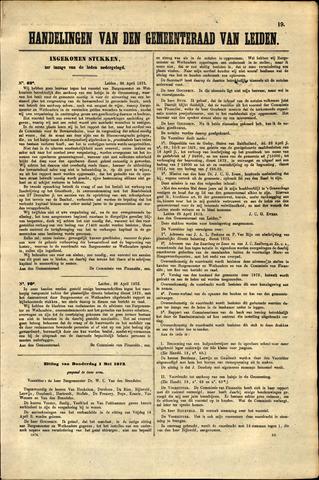 Handelingen van de Raad 1873-04-26