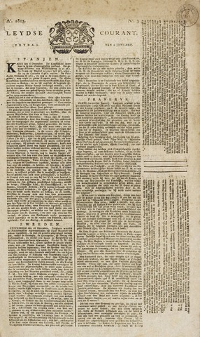 Leydse Courant 1815-01-06