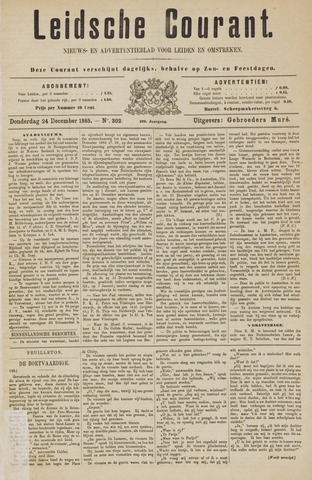 Leydse Courant 1885-12-24