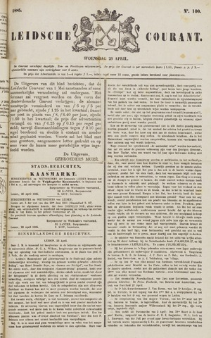 Leydse Courant 1885-04-29