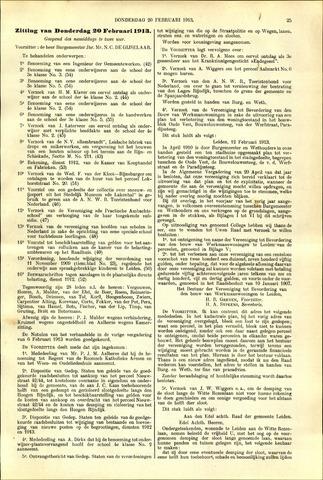 Handelingen van de Raad 1913-02-20