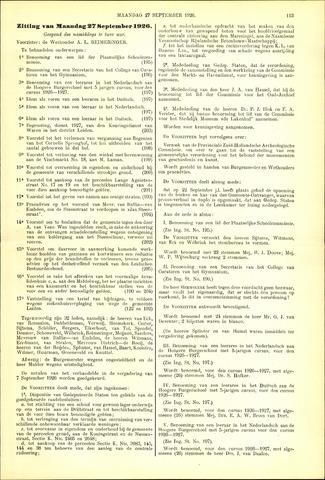 Handelingen van de Raad 1926-09-27