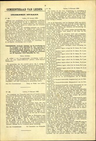 Handelingen van de Raad 1920-01-29
